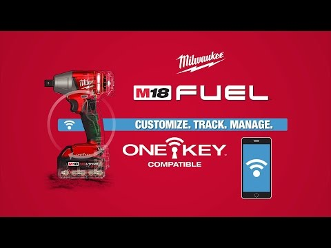Milwaukee M18ONEIWF12-502X 18v Cordless 1/2 One Key Impact Wrench 2 Batteries Charger Case