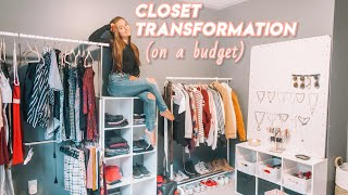 closet transformation (on a budget) | build & organize my closet with me