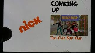 Nickelodeon Bumper (2009-2010) Coming Up The Kidz Bop Kids / Now More The Kidz Bop Kids