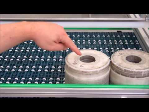 BCK Holland modulaire kettingtransporteur Roller Top 1 inch