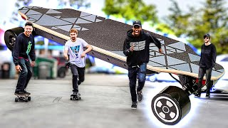 The World's First Self Balancing Skateboard!