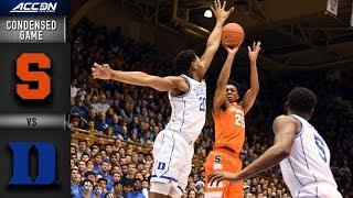 Syracuse vs. Duke Condensed Game   2018-19 ACC Basketball