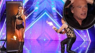 DEADLY Games Knife Throwing Act ACCIDENT!!!  | Judge Cuts 2 | America's Got Talent 2016 | Ep. 9
