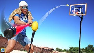 BEST TRICK SHOT WINS $10,000! Impossible All Sports Challenge!