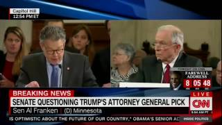 Senator Al Franken takes Jeff Sessions to task for lying about his civil rights record.