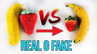 GUMMY FOOD vs REALIDAD | Gominolas vs frutas de verdad!