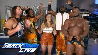 The New Day celebrate with AJ Styles: SmackDown Exclusive, Aug. 7, 2018