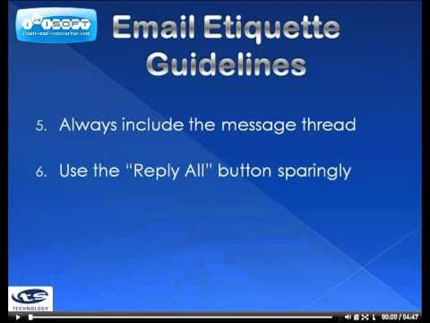 Email Etiquette for Microsoft Outlook 2010