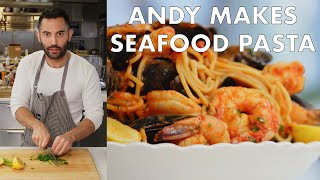 Andy Makes Seafood Pasta | From the Test Kitchen | Bon Appétit