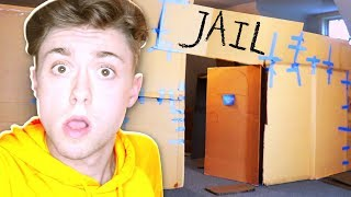 24 HOURS OVER NIGHT BOX FORT PRISON!