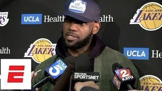 LeBron James Press Conference after Lakers' loss vs Blazers | NBA Interviews