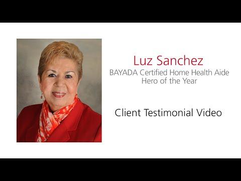 Luz Sanchez BAYADA CHHA Hero of the Year 2016
