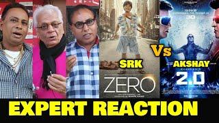 ZERO Trailer vs 2.0 Trailer | EXPERT REACTION | SRK vs Akshay | Battle On The Internet & Box Office