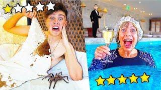 $100 HOTEL vs $10,000 HOTEL - Challenge
