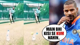 Shikhar Dhawan Nails 'Bottle Cap Challenge' in his style..