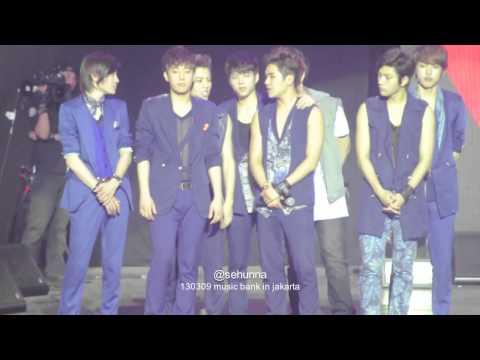 130309 Music Bank Ending - All Artist (INFINITE, BEAST, Super Junior, SHINee, SISTAR, 2PM, ERU)