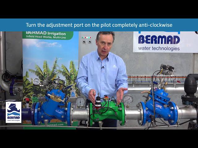 Válvula redutora de pressão Bermad 420 – Demonstração prática