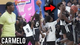 Bronny James NASTY POSTER inFront of Carmelo!? DUNKING TOO EASY NOW!