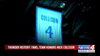 Nick Collison`s jersey the first retired by the OKC Thunder