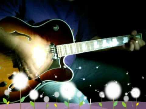 Squier X155 jazz box guitar unplugged