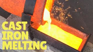 MELTING CAST IRON  WITH PROPANE AT HOME - 1300°C+  Devil-Forge