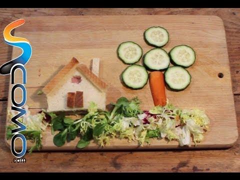 Cómo hacer un sandwich con forma de casita