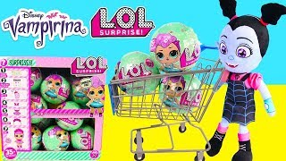Toys R Us LOL Surprise Shopping with Vampirina Disney, Learn To Count Just Like Home Cash Register