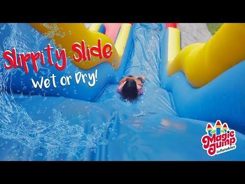 19' Slippity Slide - Inflatable Wet or Dry Slide   Magic Jump, Inc.