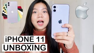iPhone 11 (PURPLE) UNBOXING + CAMERA REVIEW!! Upgrade from iPhone 7 💸