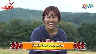Diệu Nhi bất chấp tất cả giành giật từng con lươn để chiến thắng khiến Trương Nam Thành bó tay 😂