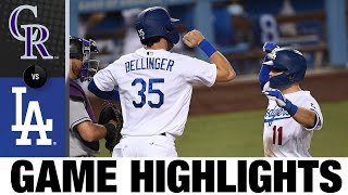 Dodgers clobber five home runs in 10-6 win | Rockies-Dodgers Game Highlights 9/4/20