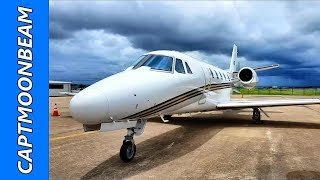 Flying the Cessna Citation, Thunderstorms and Rain in Houston