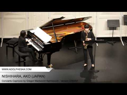 Dinant2014 NISHIHARA Ako Concierto Capriccio by Gregori Markovich Kalinkovich Version DINANT
