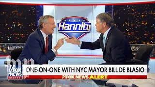 Hannity v. de Blasio: A 41-minute shouting match in 148 seconds