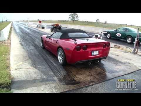 C6 vs C5 Corvette - 1/4 mile