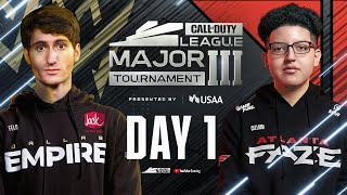 Call Of Duty League 2021 Season | Stage III Major Tournament | Day 1