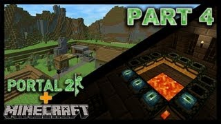 Minecraft dans Portal2 - Episode 6 : Le Village ! (2/2)