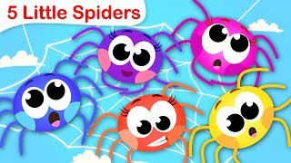5 Little Spiders | Learning Numbers With Itsy Bitsy Spider | Nursery Rhymes by Little Angel