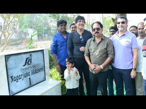 Nagarjuna lays stone for park at Jubilee Hills Housing Society in Hyd