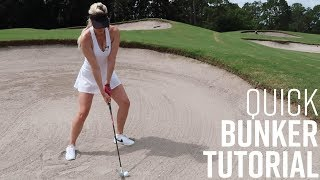 QUICK BUNKER TUTORIAL // HOW TO HIT OUT OF FAIRWAY AND AWKWARD BUNKERS