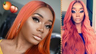 How to get WATERCOLOR Hair | Rosegold, Orange, Ginger Haircolor | Woc | SlayQueenHair