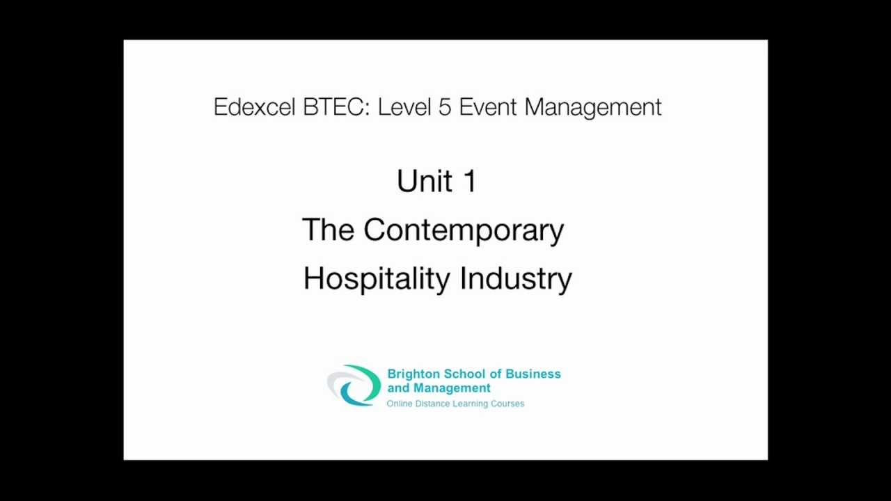 BTEC Higher National Diploma in Hospitality Management (RQF)