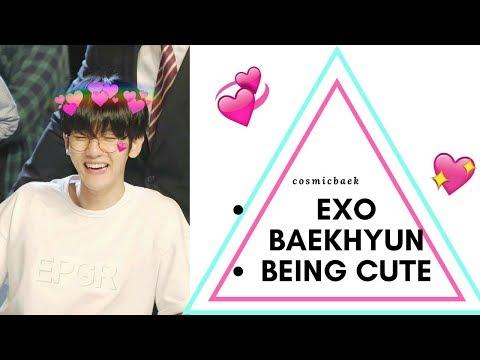 BAEKHYUN EXO BEING CUTE /ADORABLE MOMENTS