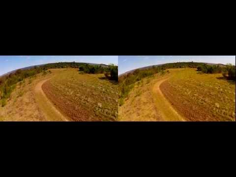3D GoPro (Wide base) FPV Test flight