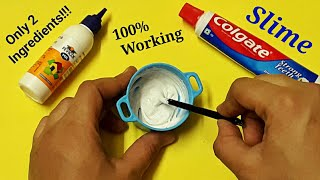 How to make slime with Fevicol and Colgate Toothpaste.100% Working Real Slime recipe(no borax)