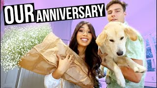 OUR ONE YEAR ANNIVERSARY! | MYLIFEASEVA VLOGMAS DAY 1 2017