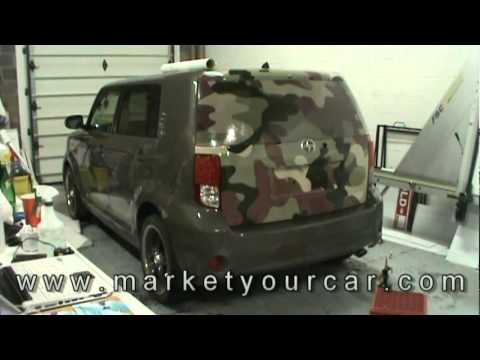 Full Wrap with perforated windows Car Wrap By Market Your Car for Mississauga Scion