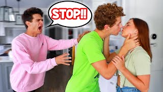 KISSING MY BEST FRIENDS CRUSH PRANK!