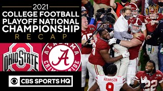 #3 Ohio State vs #1 Alabama: 2021 College Playoff National Championship Recap | CBS Sports HQ