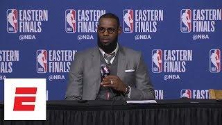 LeBron James on Game 1 loss to Celtics: 'I have zero level of concern' | ESPN